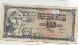 Billets - B884 - Yougoslavie   - Billet 1000 Dinara 1981 ( Type, Nature, Valeur, état... Voir 2scans) - Yugoslavia
