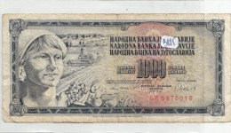 Billets - B885 - Yougoslavie   - Billet 1000 Dinara 1981 ( Type, Nature, Valeur, état... Voir 2scans) - Yugoslavia