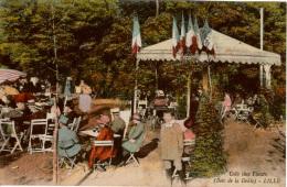 Cpa 59 LILLE  Café Des Fleurs (Bois De La Deûle) Colorisée , Très Animée - Lille