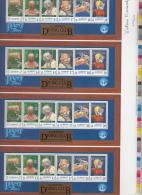 Alderney MNH Scott #118a Uncut Sheet Of 4 Souvenir Sheets Alderney Diving Club Signed By Designer No. 493/2000 - Alderney