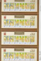 Alderney MNH Scott #175a Uncut Sheet Of 4 Souvenir Sheets Alderney Golf Club Signed By Designer No. 307/2000 - Alderney
