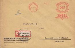 LUDWIGSHAFEN (RHEIN) - Fa.Freistempel - 065 - Auf Sauberem EINSCHREIBEN - BRIEF - 1929 - Marcofilia - EMA ( Maquina De Huellas A Franquear)