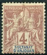 Anjouan (1892) N 3 * (charniere)