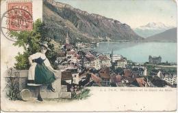 7407 - Montreux Et La Dent Du Midi  Vaudoise En Costume - VD Vaud