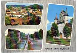 Prat-Bonrepaux - Vue Générale, L'église ... (multivues) - France