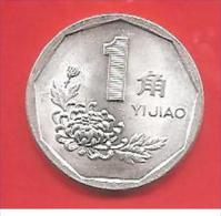 CINA - CHINA - 1995 - COIN MONETA - 1 JIAO  - CONDIZIONI SPL - Cina