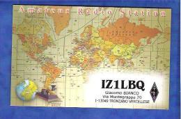 Qsl Radioamateur -  Italie -  IZ1LBQ  - TRONZANO VERCELLESE - Radio Amatoriale