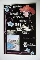 1985  BARI   LEVANTE   MANIFESTAZIONE FILATELICA NUMISMATICA  MOSTRA CARTOLINA D'EPOCA TIRATURA NUMERATA    COME DA FOTO - Manifestazioni