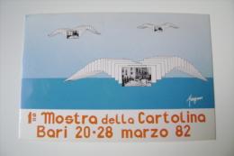 1982  BARI     MANIFESTAZIONE FILATELICA NUMISMATICA  MOSTRA CARTOLINA D'EPOCA TIRATURA NUMERATA    COME DA FOTO - Manifestazioni