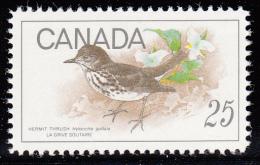 Canada MNH Scott #498 25c Hermit Thrush - Birds - 1952-.... Règne D'Elizabeth II