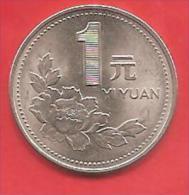 CINA - CHINA - 1994 - COIN MONETA - 1 YUAN  - CONDIZIONI SPL - Cina