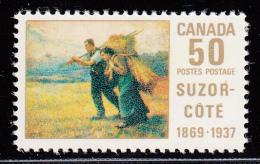 Canada MNH Scott #492 50c Return From The Harvest Field By Suzor-Cote - 1952-.... Règne D'Elizabeth II