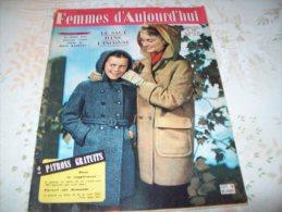 FEMMES D´AUJOURD´HUI N°589 DU 16  AOUT 1956 AVEC PATRON - Mode