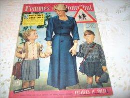 FEMMES D´AUJOURD´HUI N° 590 DU 23 AOUT 1956 AVEC PATRON - Mode