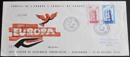 FRANKREICH 1956 MI-NR. 1104/05 CEPT FDC (118) - Europa-CEPT