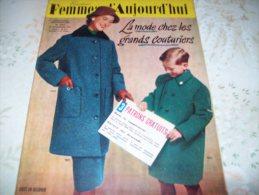 FEMMES D´AUJOURD´HUI N° 594 DU 20  SEPTEMBRE 1956 AVEC PATRON - Mode