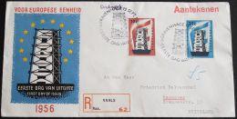 NIEDERLANDE 1956 MI-NR. 683/84 CEPT FDC (118) - Europa-CEPT