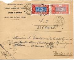 Enveloppe à En-tête Du Gouvernement Général De L'AOF, Colonie Du Dahomey, Avril 1938 - Documents Historiques