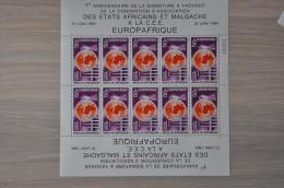 M ++ TSJAAD REPUBLIQUE DU TCHAD SHEET EUROPAFRIQUE ++ NEUF MNH ** - Tsjaad (1960-...)