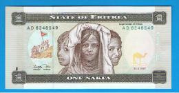 ERITREA - 1 Nakfa  1997 SC  P-1 - Eritrea