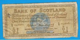 ESCOCIA - Scotland = 1 Pound 1964  P-102 - 1 Pound