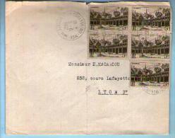 France Lettre CAD La Couarde Sur Mer  5-06-1962 / Tp 499 Bloc De 5 !! Pour Mr Macabiou Lyon - Covers & Documents