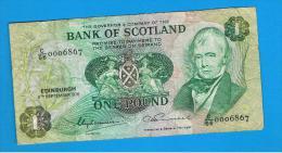 ESCOCIA - Scotland = 1 Pound 1976   P-111 - 1 Pound