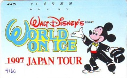 Télécarte Japon DISNEY  (4160)  MICKEY  * SKATING *  Japan Phonecard *  TELEFONKARTE - Disney
