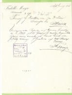 1893- FATTURA PUBBLICITARIA-PIETRASANTA-FRATELLI MAYR - Italia