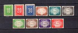 Israel   1949-52   .-   Y&T  Nº   8/10 - 12/13 - 15/19    Taxa - Timbres-taxe