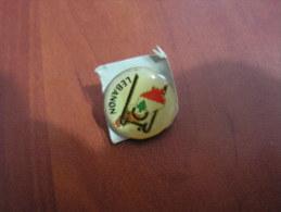 Lebanon Pin Cedar And Map, Badge Liban - Pin-ups