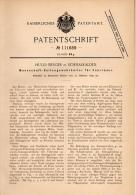 Original Patentschrift - Seitengewehr - Halter Für Fahrrad , 1899 , H. Berger In Schmalkalden , Gewehr , Jagd , Miltär ! - Ausrüstung