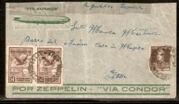 Argentine Poste Aérienne N° 12x2 + 278 Sur Lettre Via L'Espagne De 1934 - Storia Postale