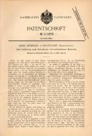 Original Patentschrift - B. Spariosu In Kronstadt / Brasov , 1899 , Apparat Zum Zeichnen Von Kurven , Architektur !!! - Architektur
