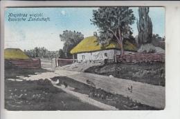 RU - RUSSLAND, Krajobraz Wiejski / Russische Landschaft, Deutsche Feldpost 1916 - Russland