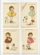 Chien - Hand - Dog - Hund  (  4 Cartes  AQUARELL ) - Chiens