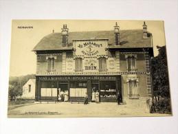"""Carte Postale Ancienne : NEMOURS : Au Marabout , Restaurant, , """"C'est Meilleur Qu'en Face"""", M. BRIN , Animé - Nemours"""