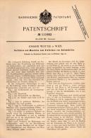 Original Patentschrift - J. Wottle In Wien , 1899 , Maschine Zum Formen Von Modellen Aus Guß , Modellbau , Modell !!! - Maschinen