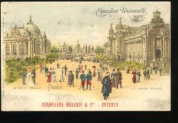 Paris Exposition Universelle De 1900 Le Petit Palais Le Grand Palais Champagne Mercier Epernay Pionnière - Mostre