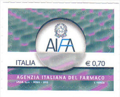 ITALIA 2013 AGENZIA ITALIANA DEL FARMACO - INTEGRO AUTOADESIVO - 2011-...: Neufs