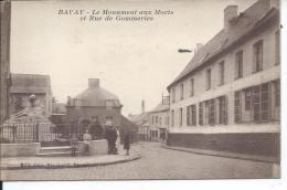 BAVAY - Le Monuments Aux Morts Et Rue Des Gommeries - Bavay