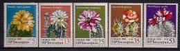 BULGARIA, YVERT 2586/2590**, TEMA FLORES, PLANTAS, CACTUS - Cactus
