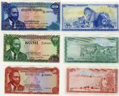 Kenya UNC 20kes /10Kes/5Kes 1978  3 Uncirulated Mint Fresh Notes(.See Scan Serial Nos May Vary) - Kenya