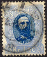 Norway #33 Used 1.50k King Oscar II From 1878 - Norvège