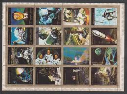 United Arab Emirates,Ajman, Space,16 Stamps,1set,Cancelled. - Ajman