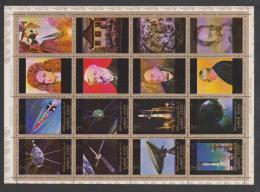 United Arab Emirates,Ajman,Space,16 Stamps,1set,with Nice Errors,Cancelled. - Ajman