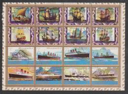 United Arab Emirates,Ajman,Ships And Boats,16stamps,1set, Cancelled. - Ajman