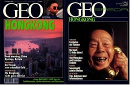 2 X Geo Magazin Spezial  - Hongkong , 1984 + 1995 , Supermarkt Zweier Welten - Bye Bye Britain - Reise & Fun