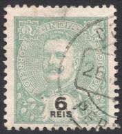 Portuguese India, 6 R. 1902, Sc # 205, Mi # 211, Used - India Portoghese
