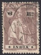 Portuguese India, 6 R. 1913, Sc # 364, Mi # 345A, Used - India Portoghese